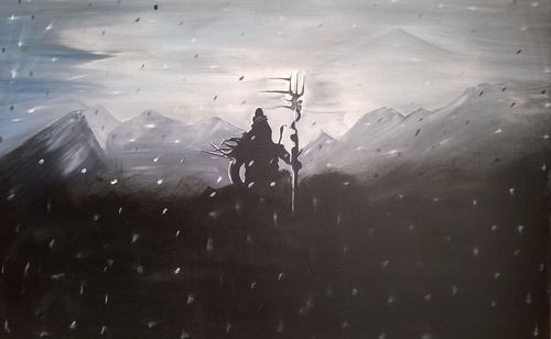 Oil Canvas Paintings Lord Shiva Canvas Painting Other