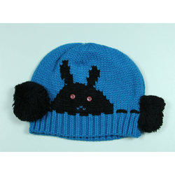 VP Oswal Kids Blue Woolen Cap