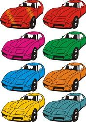 Sublimation Stickers of Cars