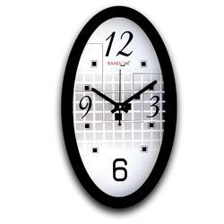 Rc-0334 Oval Metrix Wall Clocks