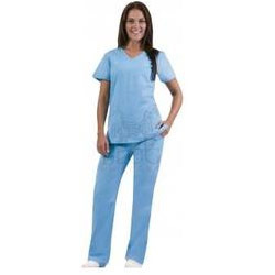 Solid Color Scrub Uniform
