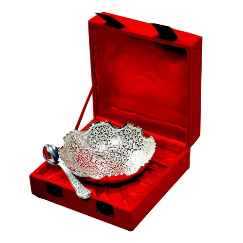 917bb40466a6 Bowls Set Silver Plated - Royal Wedding Gifts Three Leaves Tray  Manufacturer from Jaipur