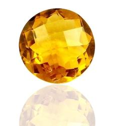 Round Brio Natural Citrine In AAAA Color