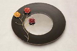 Round Mirror With Flowers ( MF FL - 4480 )