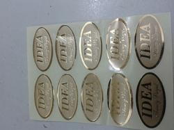 Foil Stamping Sticker Golden Colour