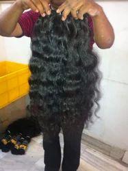 Weft Virgin Peruvian or Malaysian Curly Hair