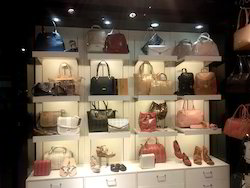 Purse Display on Wall Panel