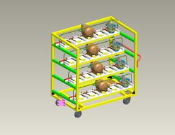 Designing of Storage Trolley & Pallets