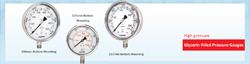 High Pressure Glycerine Filled Pressure Gauge