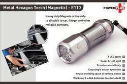 Metal Hexagon Torch Magnetic