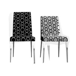 Steel And Wooden Fabric And Leather Geeken Designer Chair