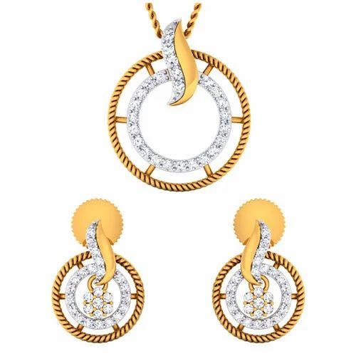 9b1d90e31 Designer Diamond Pendants Set at Rs 89570 /set(s) | Diamond Pendant ...