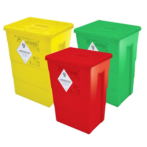 Waste Bin without Food Paddle and Wheels - Color Coded