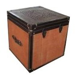 Wooden Leather Trunk