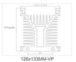 133x126mm Heat Sink