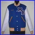 Bright Royal White Varsity Jacket