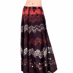 Ethnic Tie N Dye Long Cotton Skirt 207
