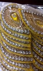Diamond Leaf Shape Buti All Colours 4/3cm