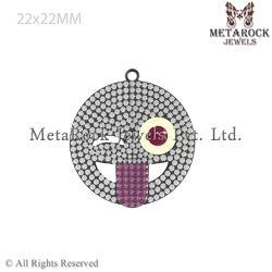Pave Diamond Smile Pendant Jewelry