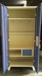 Steel 2 Doors Evergreen Full Hanger Almirah, With Locker