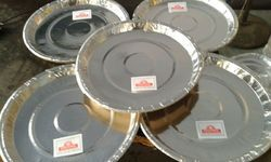 Plain Silver Foil Paper Plate, Packaging Type: Packet