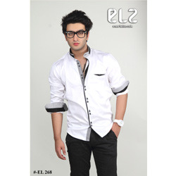 Cotton Black & White Shirts - View Specifications & Details of ...