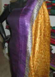 Purple And Golden Designer Suit