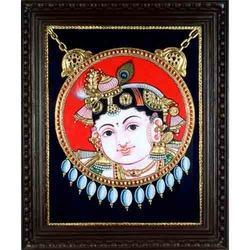 Dollar Krishna Tanjore Painting
