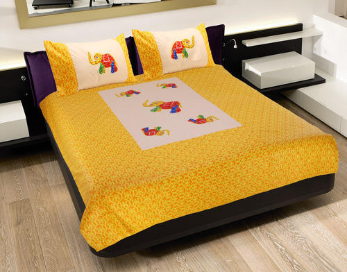 Patch Work (Dhola Maru) Bedsheet With Pillow Cover