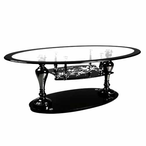Indian Glass Top Coffee Table: Stylish Glass Teapoy Table, Glass Table