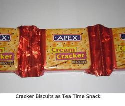 Cracker Biscuits As Tea Time Snack