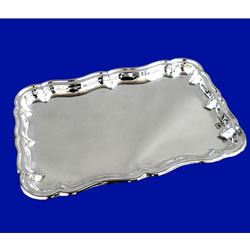 Decorated Silver Tray