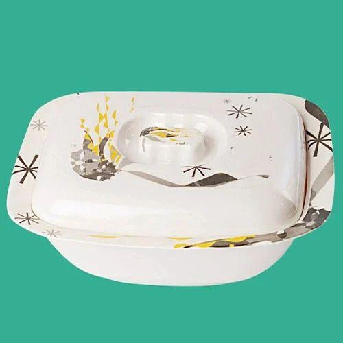Printed Ceramic Serving Bowl With Lid Rs 100 Piece Pashupati