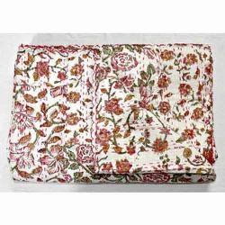 Cotton Multicolor Patchwork Kantha Quilt