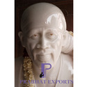 Prabhat White Marble Shirdi Sai Baba Statue, For Temple And Home
