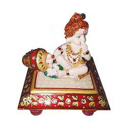 Marble Laddu Gopal Decor