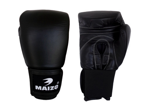 Elastic Strap Boxing Gloves-Leather
