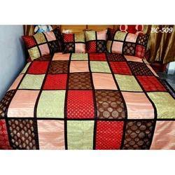 Multicolor Embroidered Silk Bed Sheet, for Home Hotel