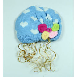 Blue Kids Winter Cap
