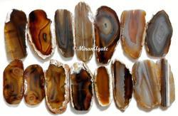 Natural Brown Agate Slice Long For Hanging