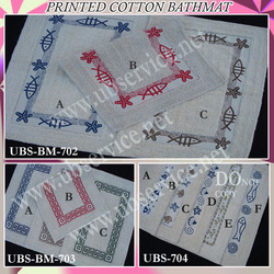 Printed Cotton Bathmat