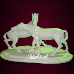White Marble Stone Horse Statue, for Interior Decor, Size/dimension: 12 Inch To 6 Feet