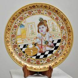 Marble Painting Plate
