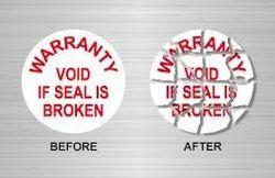 Warranty Seal Label