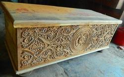 Carved Blanket Box