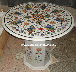 Marble Inlay Round Table
