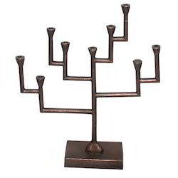 Aluminum Menorah Candle Holder