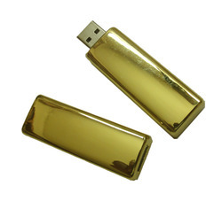 HP 24k Gold Plated Pen Drive (4GB), Capacity: 8gp