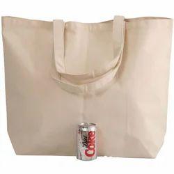 Natural Cotton Greige Large Canvas Bag, Size: 23.5