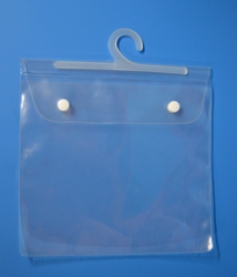 Transparent PVC Hanger Button Pouch